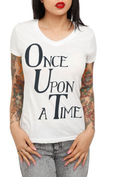 Once Upon A Time V-Neck Girls T-Shirt   Hot Topic