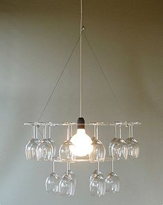 DIY: Chandelier and Wineglass Holder