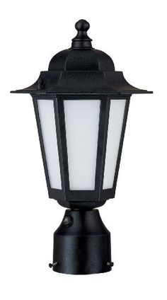 Nuvo Lighting 60/2213 Cornerstone Outdoor Post Lantern with Photocell, Frosted Glass, Textured Black by Nuvo. $45.98. From the Manufacturer                Founded in 1966, Satco is well known as a premier supplier of a variety of lighting products.  The SATCO brand includes light bulbs, electrical accessories, lighting hardware and glassware.  Nuvo Lighting was launched by Satco in 2005.  From the beginning, energy efficiency was the cornerstone of Nuvo Lighting's product dev...