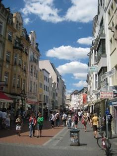 Bonn, Germany  ~~~~Many outside cafe's~~~