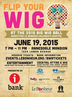 On June 19th, 2015 we were a sponsor for the Big Wig Ball benefitting Le Bonheur Children's Hospital.