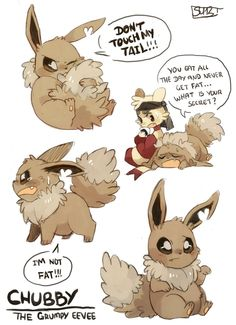 this is chubby and it seems he will probably become lins partner … I know that they are a lot eevees in pmde. but I couldn't resist to have my own /SOB. Chubby the grumpy eevee Pokemon Firered, Pokemon Eeveelutions, Eevee Evolutions, Pokemon Comics, Pokemon Funny, Pokemon Memes, Pokemon Fan Art, Pokemon Stuff, Pikachu