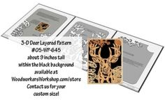 3-D Deer Layered Silhouette Downloadable Scrollsaw Wood Plan PDF #05-WP-645