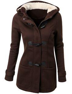 Doublju Womens Wool Blended Classic Coat Jacket