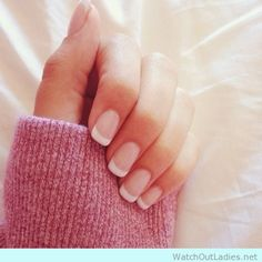 This has to be the perfect french manicure - http://watchoutladies.net/simple-classy-manicure/
