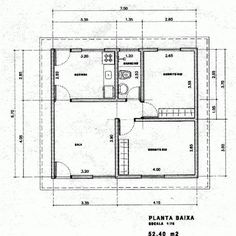 House Layout Plans, House Layouts, House Floor Plans, Tiny House Plans Free, Simple House Plans, Drawing House Plans, Two Bedroom Tiny House, Stair Detail, Diy House Projects