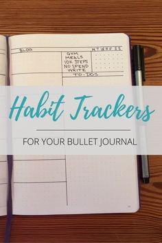 Habit trackers for your bullet journal or planner!