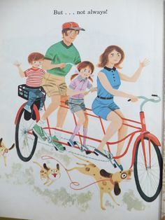 CARS by Bob Ottum. Illustrated by William Dugan (via Modern Kiddo) Vintage Bookshelf, Bicycle Print, Little Golden Books, Vintage Bicycles, Children's Book Illustration, Tricycle, Cool Cars, Childrens Books, Motorcycle Dealers