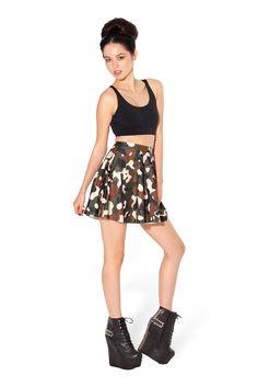 Commando Skater Skirt by Black Milk Clothing