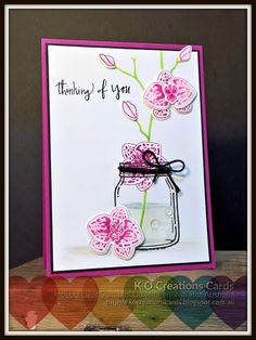 KOCreations Stampin' Up! Blog: Climbing Orchid & Orchid Builder bundle - #GDP092