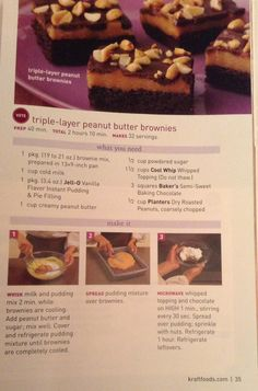 Triple Layer Peanut Butter Brownies from Kraft Foods