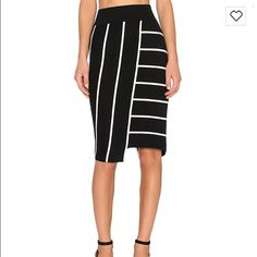 Bailey 44 Skyline Strip Pencil a cotton/silk blend New With Tags The Bailey44 Skyline Skirt is a cotton/silk blend stretch knit skirt. The flattering arrangement of stripes brings life to your look! Bailey 44 Skirts Pencil