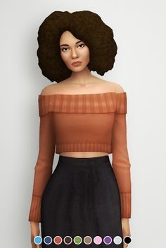 Sims 4 CC's - The Best: Off The Shoulder Sweater by Khrysasims
