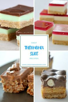 My Favourite Easy Thermomix Slice Recipes - Create Bake Make Thermomix Recipes Healthy, Thermomix Desserts, Köstliche Desserts, Dessert Recipes, Cooking Recipes, No Bake Slices, Bellini Recipe, Fudge Recipes, Sweet Recipes
