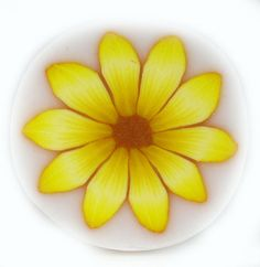 Polymer Clay Millefiori Yellow Gerbera Flower Cane by sigalsart, $6.90