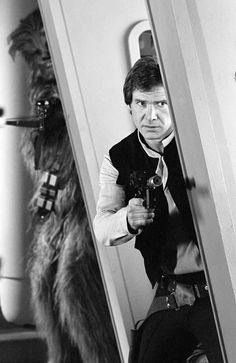 Han Solo and Chewbacca, inside the Endor bunker ,Return of the Jedi @retrostarwarsstrikesback