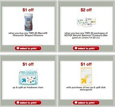 Coupons from Target