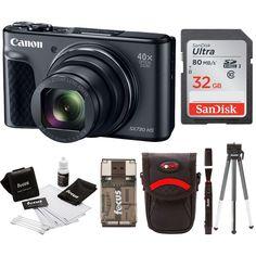 1c05613eb Canon Powershot SX730 Digital Camera Bundle (SX730 32GB, Black) Includes:  Canon PowerShot