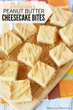 Peanut Butter Cheesecake Recipe will be a hit. Try Easy Peanut Butter Cheesecake Bites Recipe. Mini Peanut Butter Cheesecakes make the perfect dessert! Make these for Thanksgiving or Christmas dessert! Peanut Butter Desserts, Peanut Butter Cheesecake, Cheesecake Bites, Cheesecake Recipes, Cookie Recipes, Peanut Butter Cup Cake Recipe, Gf Recipes, Baking Recipes, Quick Easy Desserts