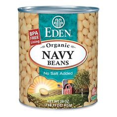 Navy Beans, Organic 29 oz. BPA free lined can. #EdenFoods