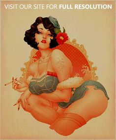 The Beautiful Pin-up Artworks by ONEQ | CrispMe