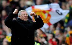Sir Alex Ferguson celebrates another @manutd victory.