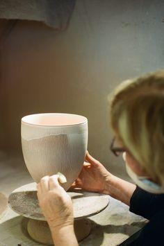 Ceramic artist Pippin Drysdale in her studio in Perth, Australia | by schorlemädchen #Ceramics