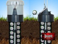 """CERVEZA BUCANERO TE PLATICA Una empresa holandesa ha lanzado un enfriador de cerveza que hace bajar la temperatura de las latas debajo de la tierra. Se llama """"eCool"""" o refrigerador de tierra, mide un poco más de un metro de largo, está diseñado para ser hundido en el suelo con una manivela para traer una cerveza a la parte superior cuando se desee una. www.cervezasdecuba.com"""