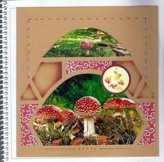 Beaux champignons en gabarit Noisette