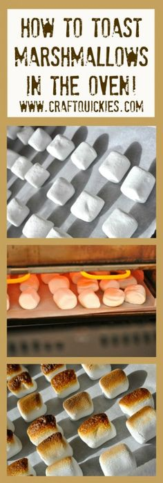Oh my word!  I had no idea you could toast marshmallows in the OVEN!  No fire pit needed!  S'mores....here I come!