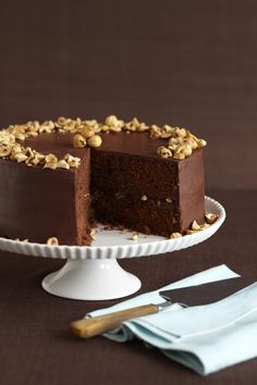 Chocolate Hazelnut Cake from familycircle.com #desserts