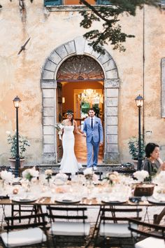 Image by Lisa Poggi Photography. - A Beautiful Italian Destination Wedding At Villa Di Ulignano With A Pronovias Dress And A Flower Wreath And A Rose Bouquet By Lisa Poggi Photography.