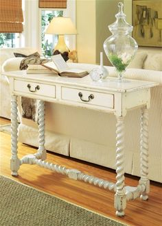 Love This Console Table With Barley Twist Legs And Stretcher Somerset Bay Living Room