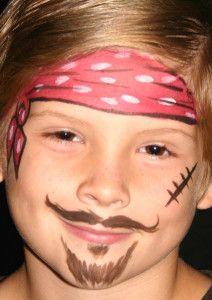 Pirat schminken Schritt 4 - fertig