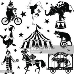 Arte vectorial : circus characters