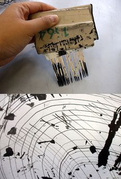 Drawing Tool - Mark making....no instructions but I'm guessing it's toothpicks held together with masking tape, fun to try!