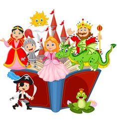 Happy kids flying on big open book Royalty Free Vector Image - Fantasy Book Eagle Cartoon, Pirate Cartoon, Cartoon Bat, Happy Cartoon, Cartoon Faces, Free Vector Images, Vector Free, Cute Lion, Princess Cartoon