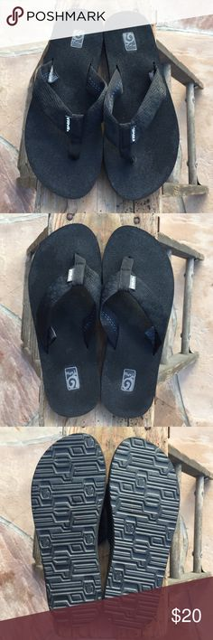 ec6bc9725 TEVA Black Flip Flops Size 9 Can be for woman or man. Worn once!