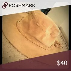 Unique suede Banana Republic hat. Like new!! As much as I hate to let this one go, it's time...too small for my head and thick hair!  Gorgeous, sturdy yet slightly floppy, suede hat has cotton lining in crown portion and gorgeous matching braided trim and lacing and singular silver stud at front and back of hat. Clean and supreme condition. Love this beauty and envious of its next owner who can fit it! ;) ...Appx circumference inside hat is roughly 21 inches. Size Small/Medium. Banana…