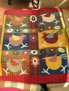 Chicken Quilt by Charlie P : ), via Flickr