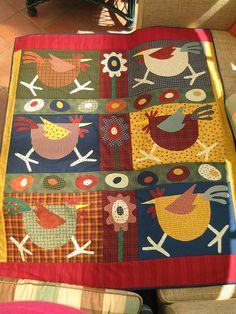 Chicken Quilt by Charlie P : ), via Flickr
