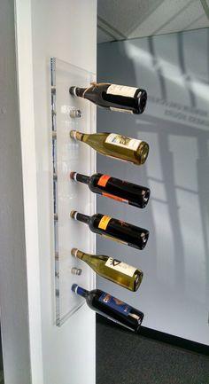 Acrylic Wine Rack Acrylic furniture Wall Mounted by SomarCreations