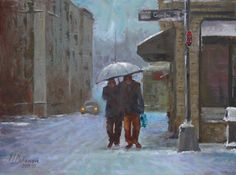 Canadians are winter experts, they walk in low temperatures and with their companions German, Victoria, Journal, Fine Art, Winter, Painting, Image, Collection, Deutsch
