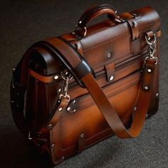 This is a custom order handmade briefcase, please provide time for design and production. Business Briefcase, Briefcase For Men, Leather Briefcase, Leather Backpack, Backpack Straps, Backpack Bags, Tote Bags, Bags Travel, Leather Bags Handmade
