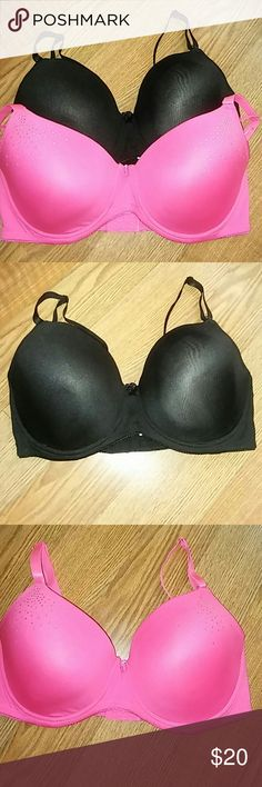 Two Bra's two bra's have not been worn , circular marks on inside is where security devices were taken off in store , tags has been removed , pink bra has little rhinestones , looks like one or two could be missing might have come off while in my dresser draw Intimates & Sleepwear Bras