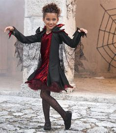 black widow spider girls costume - Only at Chasing Fireflies - What's black and red and feared all over? Your macabre black widow spider, of course.