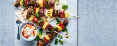 Pork And Pineapple Kebabs