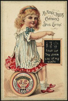 Vintage thread trade card