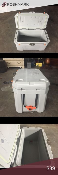 Ozark Trail 26' Cooler Brand: Ozark Trail  Color: Cream Color With Orange & Black Handles Very Sturdy Excellent Condition  26' Like New Ozark Trail Other