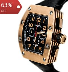 TW Steel CEO Rose Gold Plated Tonneau Case Black Dial (50 x 43mm) Mens Watch CE2004 : PHP 18,000.00